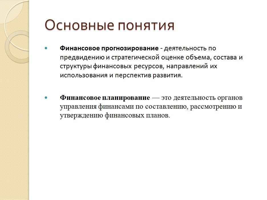 Слайд с определениями терминов