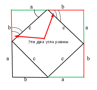 Углы треугольников равны