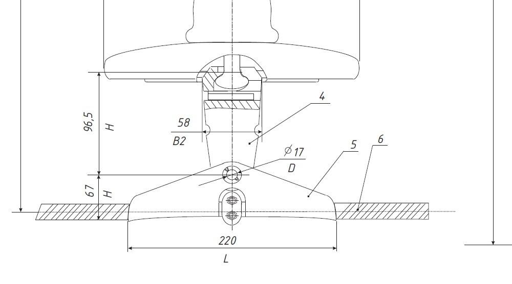 Пример указания размеров на чертеже