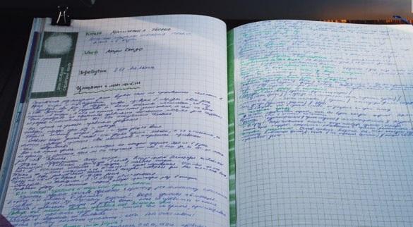 Пример читательского дневника в свободной форме